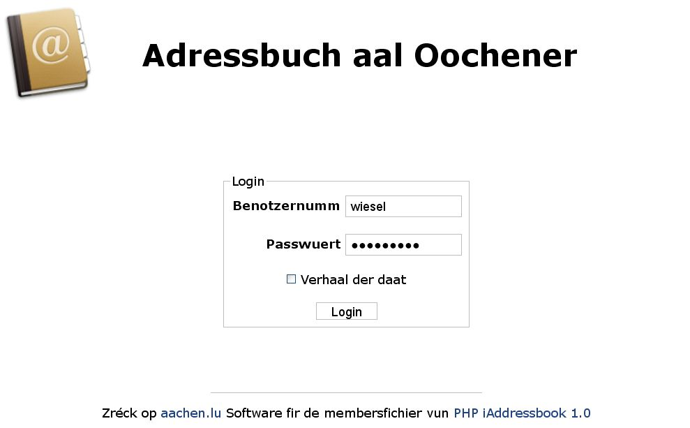 login-fenster-iaddressbook